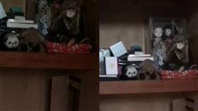奶奶生前房間頻傳腳步聲 孫拆牆後畫面驚人(圖/推特)
