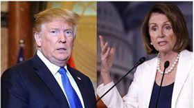 川普阻擋公布吹哨者揭弊申訴 美國眾院將投票反對 (圖/翻攝自Nancy Pelosi臉書、路透社/達志影像)