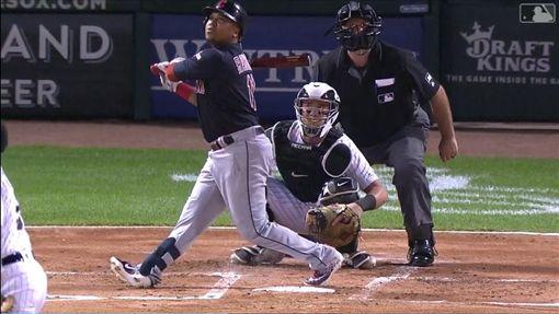 ▲拉米瑞茲(Jose Ramirez)復出單場雙響砲7打點。(圖/翻攝自MLB官網)