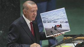 土耳其總統,艾爾段,聯合國大會演說,敘利亞,難民潮(土耳其總統府提供)