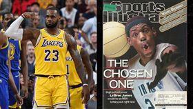 NBA/詹皇高中球衣流出!估拍千萬 NBA,洛杉磯湖人,LeBron James,高中,球衣 翻攝自推特