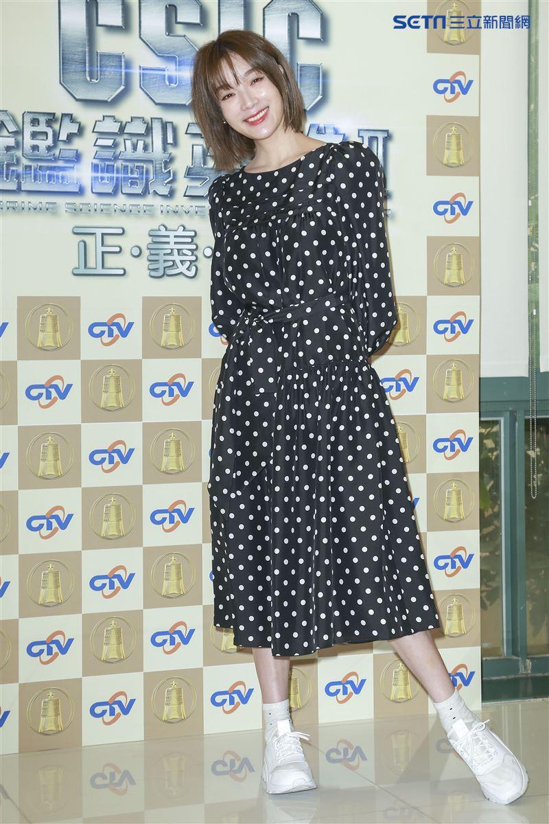 蔡淑臻入圍戲劇節目女主角獎。(圖/記者林士傑攝影)