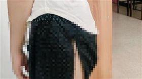 毛孩,短褲,高衩,美腿,女飼主,汪星人 圖/翻攝臉書