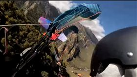 滑翔翼,撞擊,意外,墜落,俄羅斯(圖/翻攝自Игорь Снисаренко YouTube)