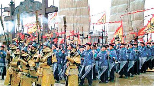 中國,軍隊,八旗,九龍,香港