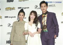 《通靈少女》第二季記者會出席演員溫貞菱、郭書瑤、范少勳。(圖/記者林士傑攝影)