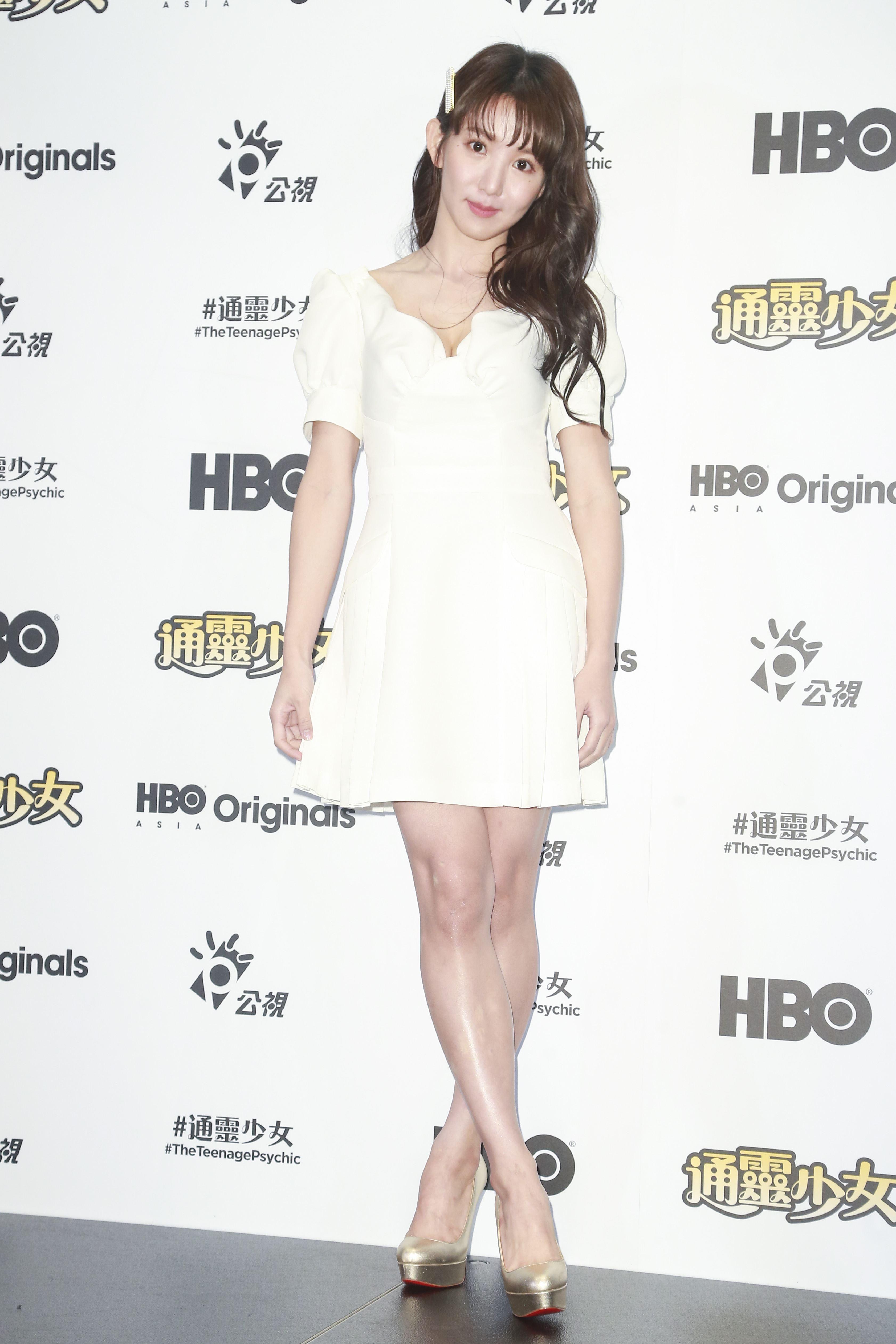 《通靈少女》第二季記者會出席演員郭書瑤。(圖/記者林士傑攝影)