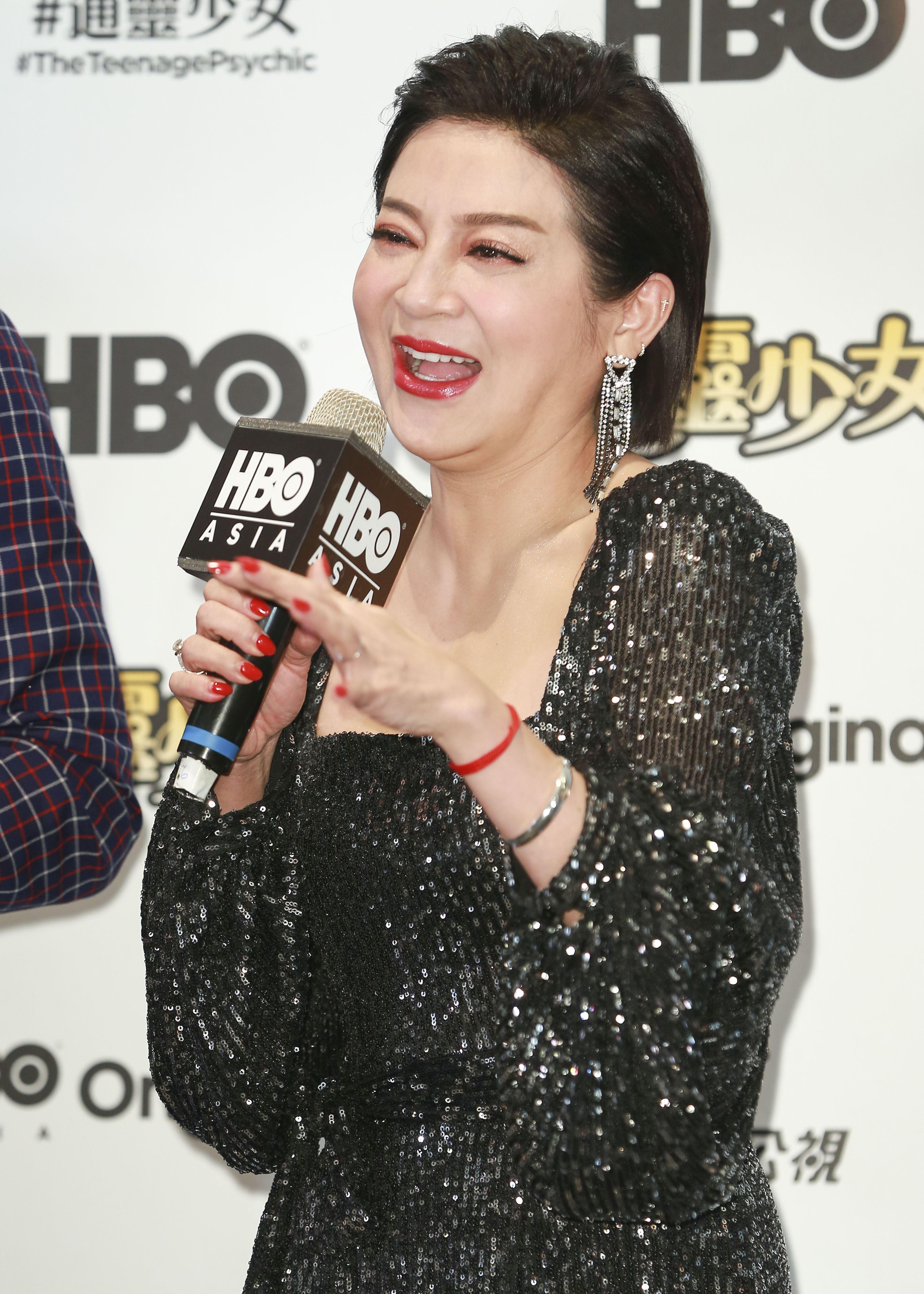 《通靈少女》第二季記者會出席演員王彩樺。(圖/記者林士傑攝影)