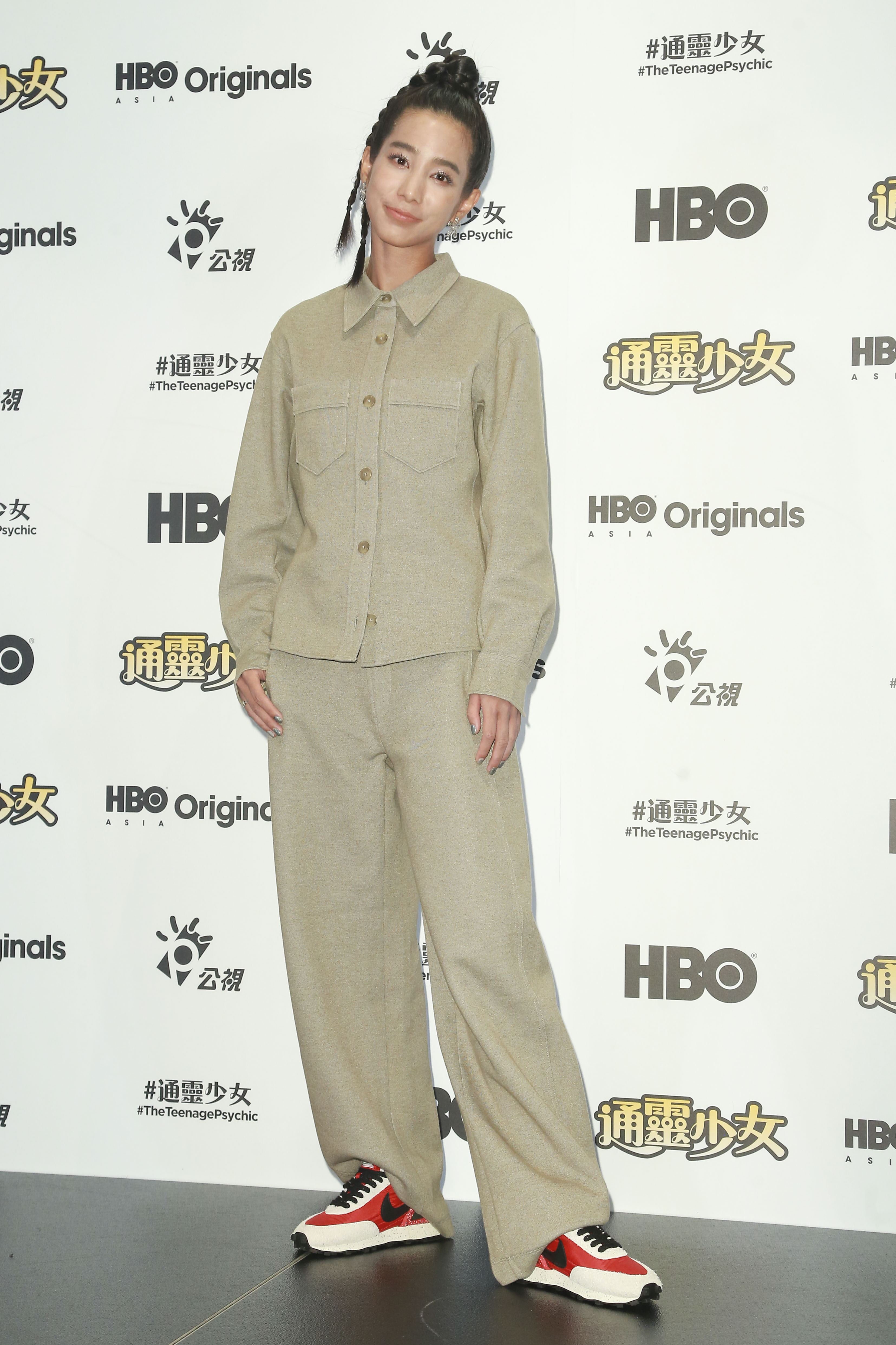 《通靈少女》第二季記者會出席演員溫貞菱。(圖/記者林士傑攝影)