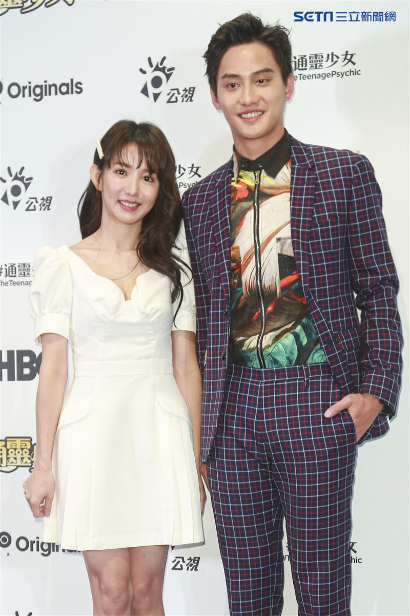 《通靈少女》第二季記者會出席演員郭書瑤、范少勳。(圖/記者林士傑攝影)