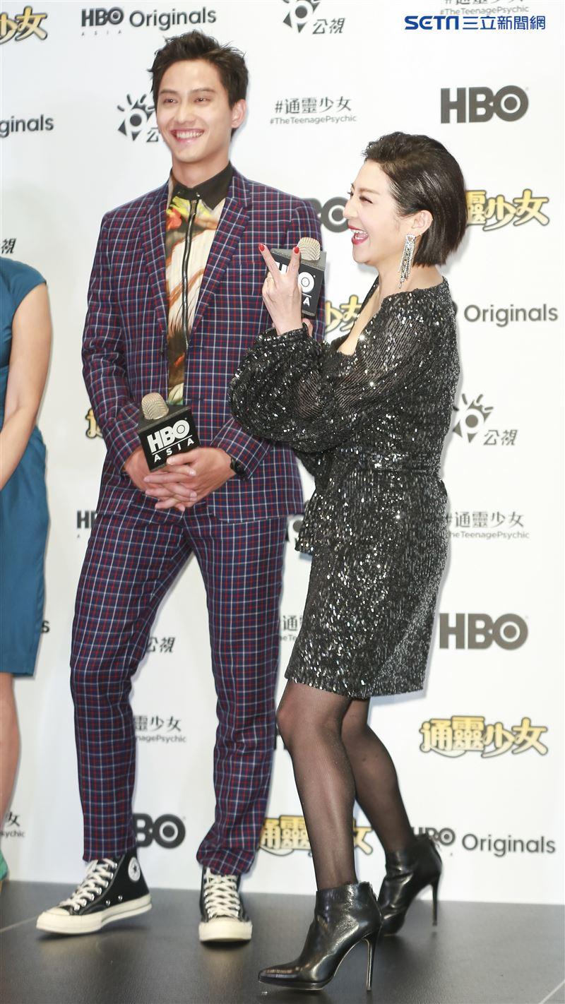 《通靈少女》第二季記者會出席演員范少勳、王彩樺。(圖/記者林士傑攝影)