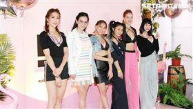 明 熊熊舉辦粉紅派對,好姊妹女星們前來力挺(左起潘映竹、王思佳、熊熊、林吟蔚、安妮 Annie、李優)。