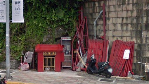 車禍,自撞,萬聖公廟,台北/google map