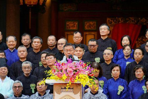 柯文哲28日一大早出席台北孔廟紀念孔子誕辰2569周年釋奠典禮