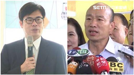 行政院副院長陳其邁、高雄市長韓國瑜。(組合圖)