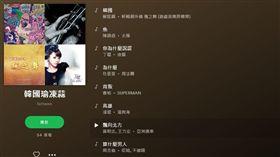 音樂軟體也卡韓?超神歌單嗆「韓國魚吃大便」 被網友讚爆(圖/翻攝自Spotify官網)