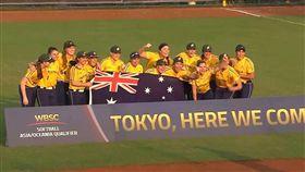 ▲澳洲取得東京奧運門票。(圖/翻攝自比賽畫面)