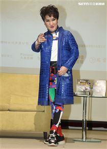 楊麗花新書發表會,女弟子陳亞蘭站台。(記者邱榮吉/攝影)