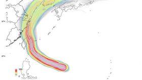 米塔路徑再西修 專家:撲台機率大增(圖/翻攝自台灣颱風論壇|天氣特急臉書)