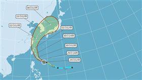 米塔煞不住!恐轉中颱今晚陸警 暴風圈將襲「北部6縣市」(圖/翻攝自中央氣象局)