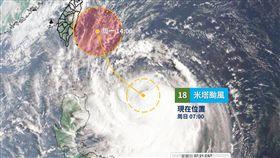 颱風,氣象,中央氣象局,米塔,登陸,(圖/天氣風險)
