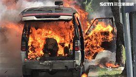 台中,箱型車,打火機,泡棉,火燒車