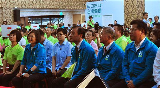 蔡英文總統29日出席「2020蔡英文總統連任中部工業區後援會成立大會」。(圖/蔡英文連任辦公室提供)