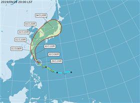米塔颱風路徑圖(圖/翻攝自中央氣象局)