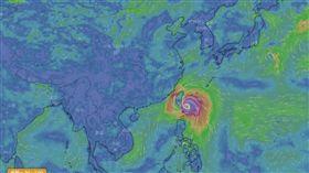 米塔颱風(圖/翻攝自天氣與氣候監測網)