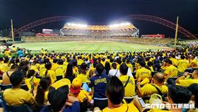 洲際棒球場球迷,彭政閔引退賽,吸引20223位球迷進場加油。(圖/記者林士傑攝影)