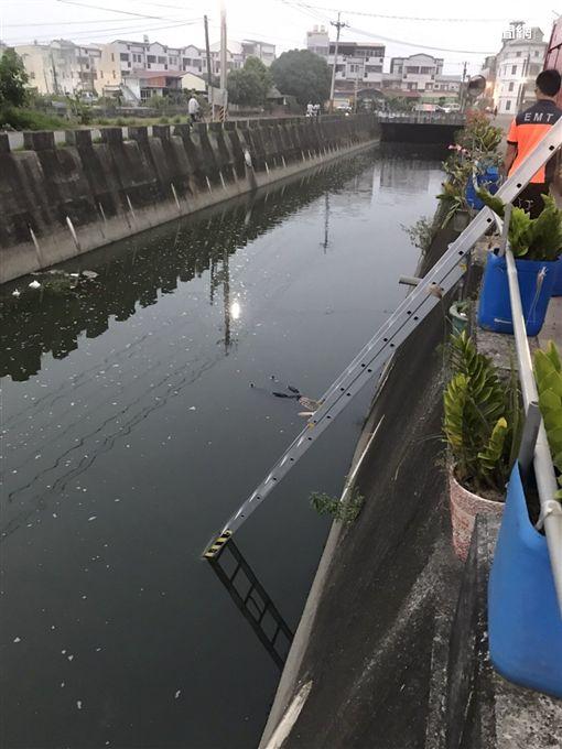 溺斃,排水溝,餐敘,台南,翻攝畫面