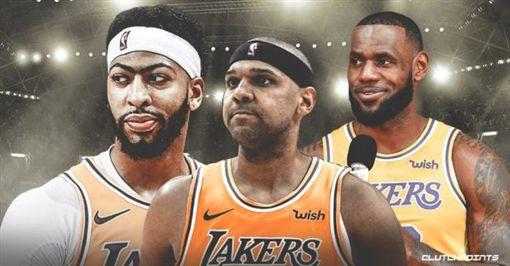 NBA/達利嗆:敢動詹皇一眉試試!NBA,洛杉磯湖人,Anthony Davis,LeBron James,Jared Dudley翻攝自推特ClutchPoints