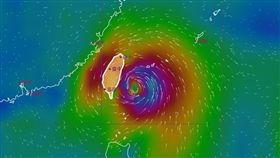 米塔颱風(圖/氣象局)風場圖