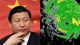 有網友解釋,台北宣布不放假、遭鄉民噓爆的原因,竟與「中國十一國慶」有關。(組合圖/資料照、中央氣象局提供)