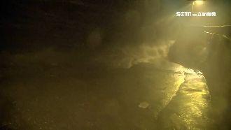 米塔夜襲東北角!暴雨狂炸魚塭慘淹沒