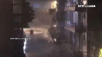 颱風米塔深夜發威!狂風暴雨襲文大