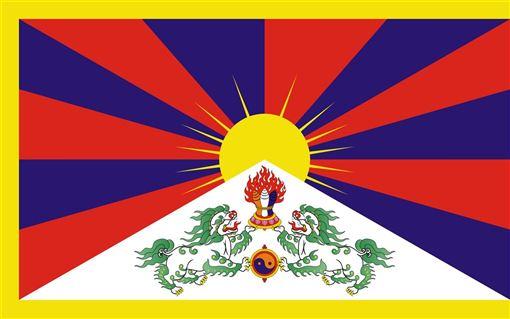 西藏的雪山獅子旗。(圖取自維基共享資源網頁,版權屬公有領域)
