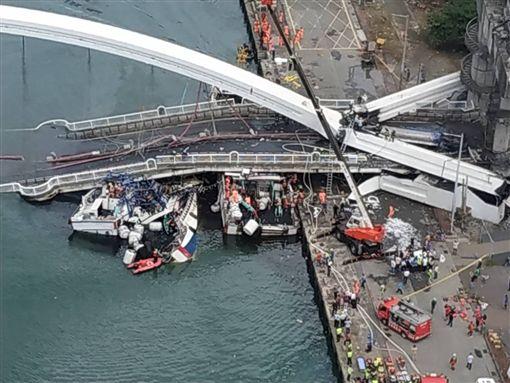 空勤總隊提供 南方澳大橋空拍