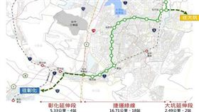 捷運綠線延伸線 台中市府再次提報爭取一次核定(圖/台中市政府)