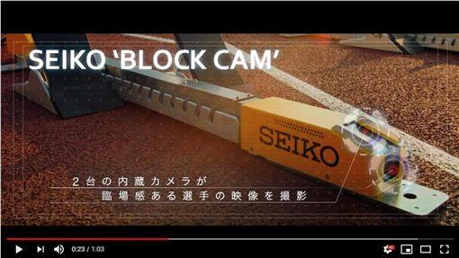 ▲杜哈田徑世界錦標賽首度在起跑架上裝設攝影機。(圖/翻攝自SEIKO SPORTS YouTube)