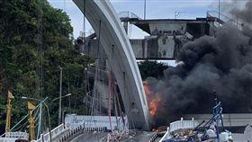 宜蘭南方澳大橋坍塌/翻攝畫面