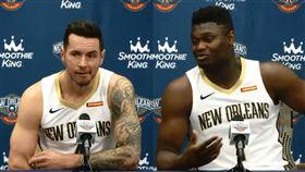 NBA/狀元威廉森…竟慘遭老將恐嚇 NBA,紐奧良鵜鶘,狀元,Zion Williamson,J.J. Redick 翻攝自鵜鶘官方推特