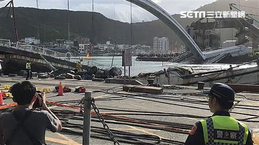 南方澳橋,漁船,崩塌,宜蘭,記者詹維耕攝