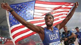 ▲美國22歲短跑新星萊爾斯(Noah Lyles)被譽為下一個閃電波特(Usain Bolt)。(圖/美聯社/達志影像)