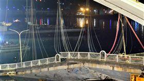 宜蘭縣,南方澳跨港大橋,坍塌,林佳龍,不排除封橋(圖/中央社)