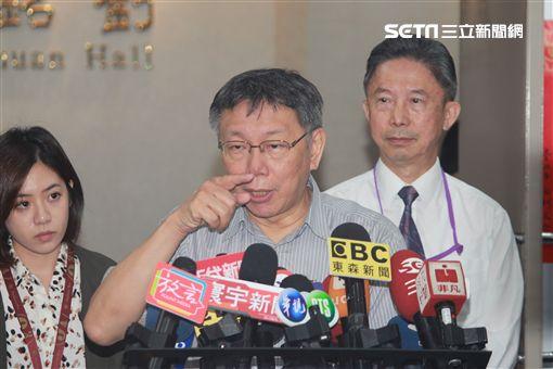 柯文哲受訪 記者李依璇攝影