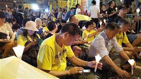 香港,占中案,出獄,泛民人士,迎接(圖/中央社)