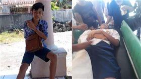 (圖/翻攝自Maz Jarwo臉書)印尼,學生,體罰,操場,遲到,暈倒