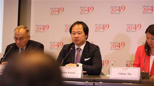 美日台安全合作可能性 日學者認為議題仍敏感日本國際問題研究所主任研究員小谷哲男(中)3日參加華府智庫活動表示,中共解放軍在台灣附近區域的軍事活動,對日本是一大安全疑慮,但在日方嘗試與中國改善關係之際,與台安全合作仍是敏感議題。中央社記者徐薇婷華盛頓攝 108年10月4日