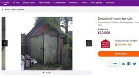 倫敦一間「森林小木屋」僅1萬英鎊。(圖/翻攝自zoopla) https://www.zoopla.co.uk/